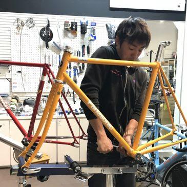 【 自転車屋さんみたい…(^o^) 】